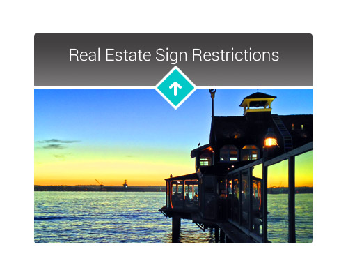Real Estate Sign Restrictions